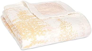 aden + anais Silky Soft Metallic Dream Blanket | 100% Viscose Bamboo Muslin Baby Blankets for Girls & Boys | Ideal Newborn Nursery & Crib Blanket | Unisex Toddler & Infant Boutique Bedding, Primrose