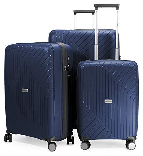 HAUPTSTADTKOFFER- TXL - 3er Set Hartschalengepäck, leichte Trolleys, Kofferset (Handgepäck + mittelgroßer Koffer + großer Reisekoffer) aus robustem...