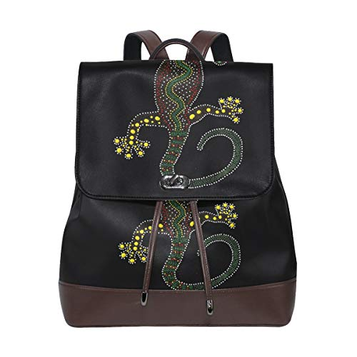 Art Artwork australischer Rucksack, Geldbörse, modisch, PU-Leder, Rucksack für Damen