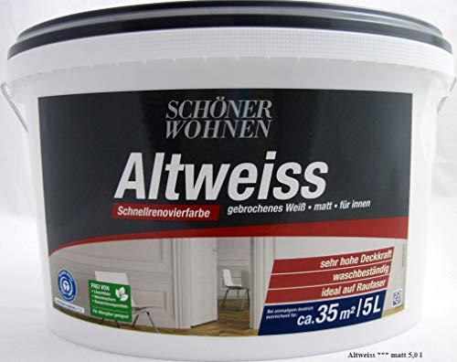 Schöner Wohnen - Altweiss matt, 5 L