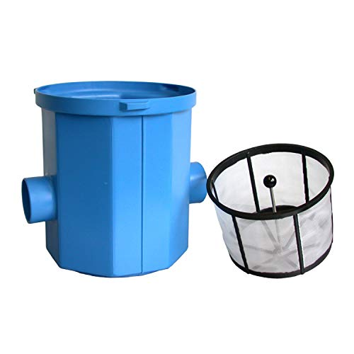 Regenwasserfilter Zisternenfilter 3P Simplexfilter SPF mit Kunststoffkorb für den Einbau in die Zisterne, Anschluss DN100, Höhenversatz 0 mm. Für die Regenwassernutzung zur Gartenbewässerung.