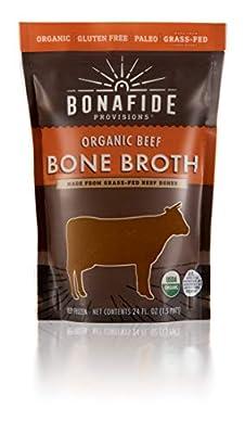 Bonafide Provisions Organic Fresh-Frozen Bone Broth. Non GMO Small Batch, KETO Friendly, Low-Calorie, Healthy Collagen Rich, Low-Fat Post Workout Supplement!