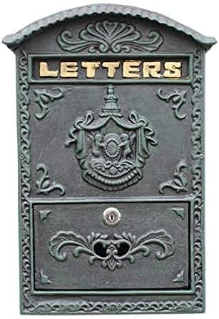 YIQQWS Oakland Mall Max 72% OFF MailboxesCast Iron Craft Wall-Mounted Mailbox Nosta Retro