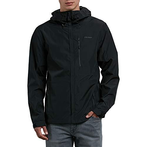 Volcom Herren Stone Storm Hooded Zip Up Rain Jacket Regenjacke, schwarz, X-Groß