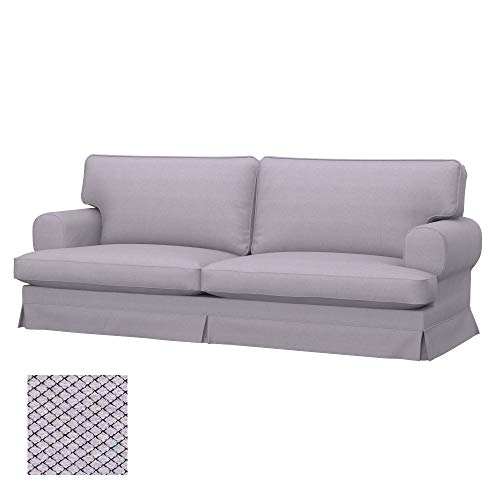 Soferia Bezug fur IKEA EKESKOG 3er-Bettsofa, Stoff Nordic Light Grey