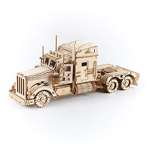 Robotime Camion Puzzle 3D Aadera Maqueta de Modelos de Láser de Madera Adultos Construcción de Edificios Artesanía para niños