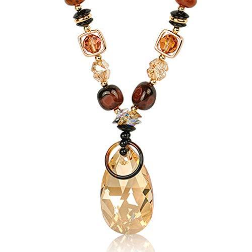 Strickjacke-Ketten-Lange Kristallhalskette Wilde weibliche einfache Kristallhalskette, die Temperament-Art- und Weiseanhänger-Anhänger, Halskette hängt