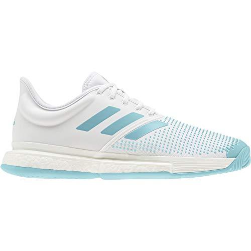 Adidas Solecourt Boost M X Parley, Scarpe da Tennis Uomo, Multicolore (Ftwbla/Azuvap/Espazu 000), 48 2/3 EU