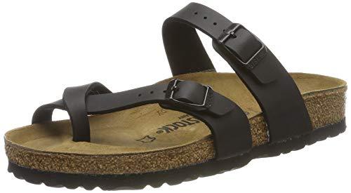 BIRKENSTOCK Women's Mayari Sandals, Black Birko-Flor, 37 R EU, 6-6.5 M US