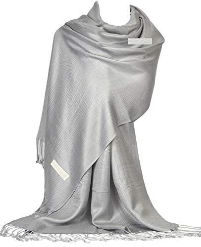 GFM Mujer Pashmina estilo bufanda de abrigo(DRV)(B9-205-HJ-28-CH)