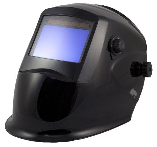 Rhino Large View Auto Darkening Welding Helmet (Black)