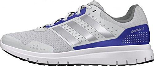 adidas Duramo 7 W, Damen Laufschuhe Mehrfarbig Weiß/Silberfarben/Blau 36 2/3 EU