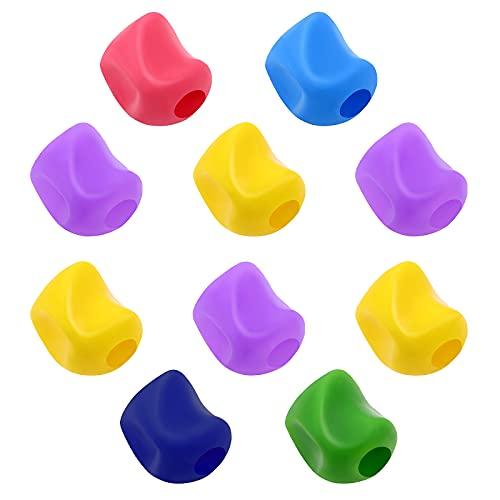 Toddmomy 10 Piezas de Agarre de Lápiz de Silicona Pinzas de Lápiz Portalápices Ayuda de Escritura Corrección de Postura de Agarre para Niños en Edad Preescolar Niños Estudiantes,Color aleatorio