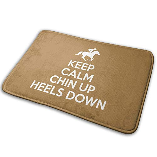 TEIJWETEIJT Felpudo Keep Calm Chin Up Tacones Down
