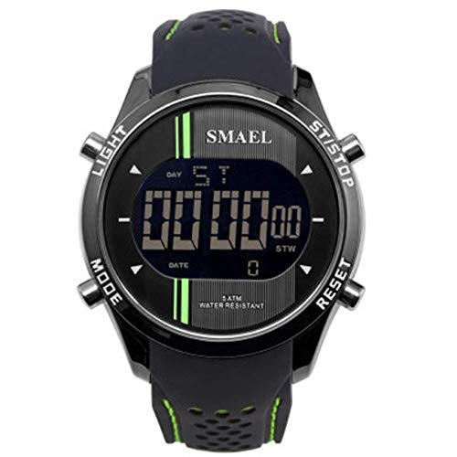 AYDQC Reloj de Deportes al Aire Libre Impermeable de Pantalla única de múltiples Funciones del Reloj de los Hombres electrónicos fengong (Color : B)