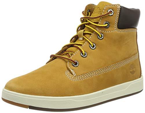 Timberland Unisex-Kinder Davis Square 6 Inch Hohe Sneaker, Gelb (Wheat), 31 EU