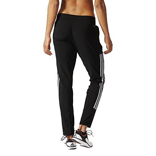 adidas Damen Sporthose Lang Performance Woven Pants, schwarz/Weiß, L/S
