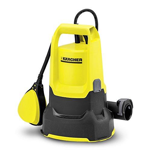 Kärcher SP 2 Flat drainagepomp (debiet: max. 6000 l/h, restwaterhoogte: 1 mm, inklapbare voeten, vlotterschakelaar, comfortabele draaggreep, keramische glijringafdichting).