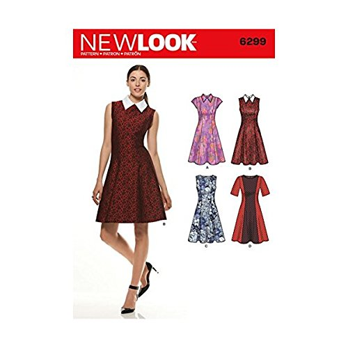 Simplicity New Look Pattern 6299 Misses Dress with Neck and Sleeve Variations Sizes 8101214161820