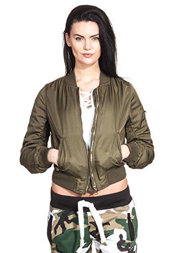 Bomberjack pilotenjack dames koco jas ritssluiting goud retro donsjack opstaande kraag fashion
