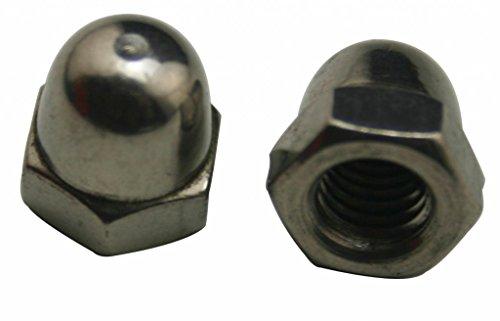 Amanaote 304 ステンレス鋼 標準タイプ M4ブラインドナット 30個パック