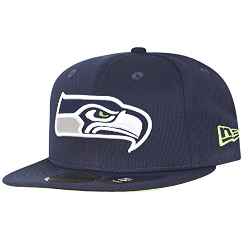 New era Seattle Seahawks 59fifty Basecap NFL Fitted Trainer Navy - 7 1/2-60cm