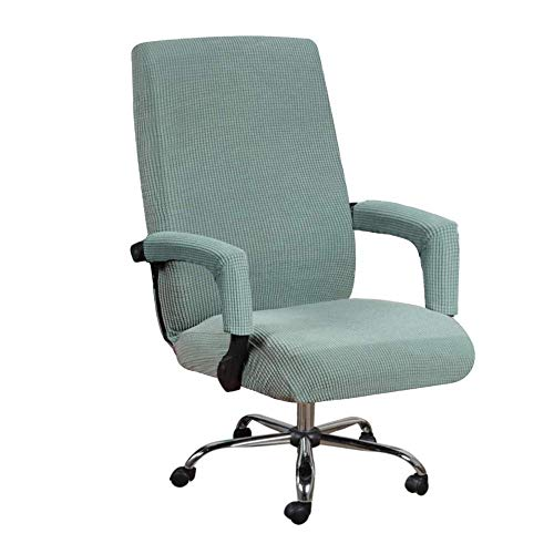 DFBGL Stretch Office Chair Covers Spandex Chair Covers Computer Chair Universal Chair Cover Slipcovers High Back Office Chair Covers with 2 Armrest Sleeve,Machine Washable-Sage_M