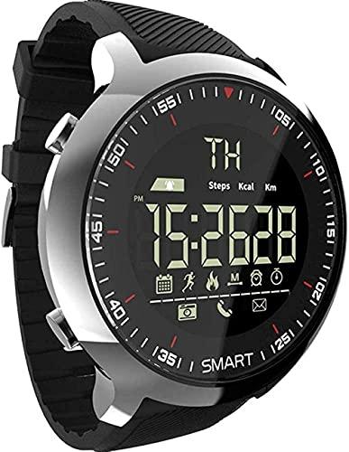 SHIJIAN Reloj deportivo inteligente impermeable, podómetro mensaje recordando al aire libre natación hombres pulsera inteligente pulsera de uso diario, hombres y mujeres regalos - negro