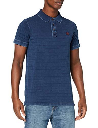 Pepe Jeans Reeves Camisa polo, Azul (Indigo 561), X-Large para Hombre