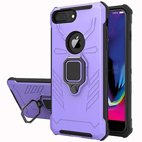 Yiakeng Funda iPhone 6 Plus/iPhone 7 Plus/iPhone 8 Plus, 360 Grados Proteccion Hard PC Silicona TPU Carcasa Antigolpes Case para iPhone 6 Plus/iPhone 7 Plus/iPhone 8 Plus (Púrpura)