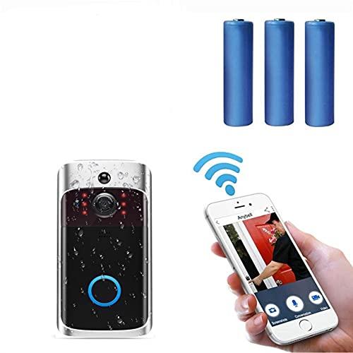 Wireless WiFi Smart Video Doorbell Camera with Waterproof Home...