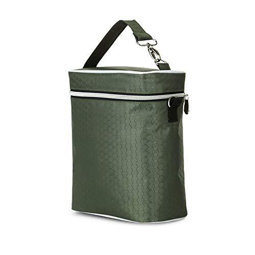 Bolsa de Almacenamiento a Prueba de Agua Multifuncional, Bolsa de Botella de Cochecito de bebé, Bolsa de Almacenamiento de Leche Materna Grande, Bolsa de biberones (Color : Green)