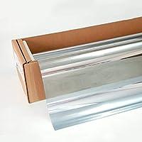 Braintec 窓ガラスフィルム スパッタシルバー35 紫外線カット99% 銀 鏡面 幅1m×長さ6m #SP-MSV3540Cx6m#