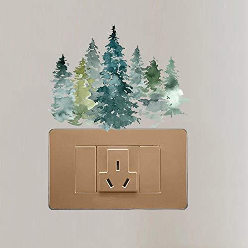 XCWQ muursticker, Mystery Green verrassing bos bloem Nice mooi design switch sticker PVC room decor muur decal
