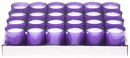 Sovie Refill Kerzen 24 lila Teelichter mit extra Langer Brenndauer (24h) für Feiern/Party/Gastronomie