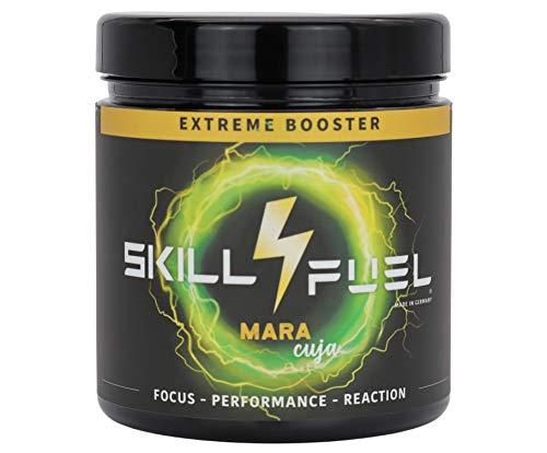 Skill4Fuel® Extreme Booster   extrem hochdosierte Inhaltsstoffe   extrem lange Wirkung   180mg Koffein & 200mg NewCaff   60 Scoops   300g (Mara Cuja)