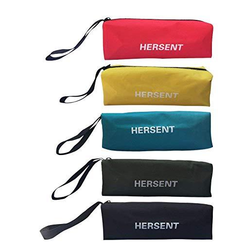 Canvas Zippered Pouches, Versatile Tool Pouch Tote Bag, Multi-Purpose Tool Zipper Organizer Case Storage Bag, Set of 5
