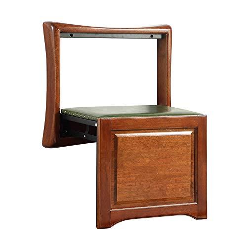 Folding chair Entrada a la casa Taburete Invisible de Madera Maciza Ultrafina Silla de Porche Instalación de Pintura Verde Nogal Negro Conveniencia