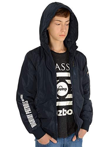 BEZLIT Kinder-Jacke Jungen-Jacke Bomber-Jacke Kapuzen Sweat-Jacke Lang-Arm 22868 Blau 158