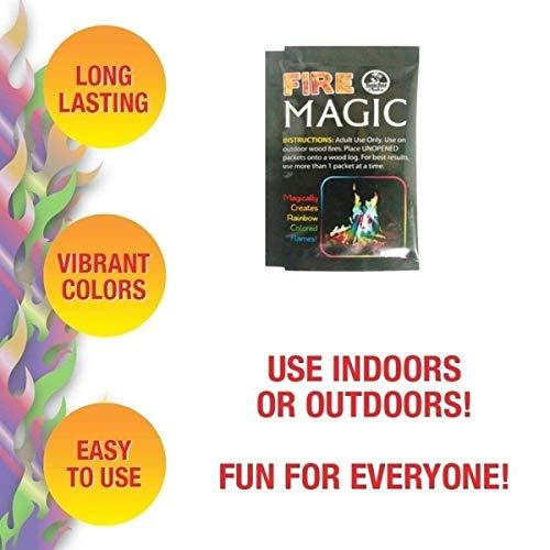 Achicoo Magic Fire Flammenpulver für Outdoor Party Karneval Party Event Zubehör (nicht brennbar) 15 g.