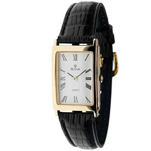 MX-Onda Mod. 00769 - Reloj de Cuarzo analógico para Mujer Correa Negra