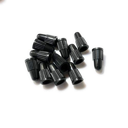BCM Plastics Colored Bicycle Presta Valve Caps (12 Count Bag) (Black)
