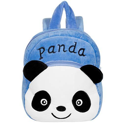 Kindergartenrucksack für Jungs und Mädchen, Remebe Kinder Rucksack Mini Panda Schule Tasche, Kindergartentasche mit Design niedliche Tieren, Kinder Rucksack, EIN Tolles Geschenk 1-7 Jahre (Blau)