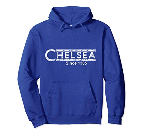 Retro Soccer Jersey Chelsea Top Blues London Vintage Gift Pullover Hoodie