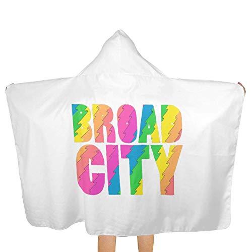 65469longshuo BeachTowel - (51.5W X 31.8L) - Absorbent & Quick Dry Hooded Serviette de Plage pour Les Enfants Teens Broad City