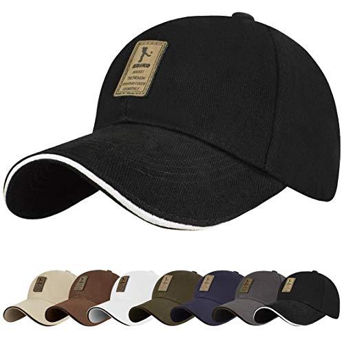 Tuopuda Gorra de béisbol Ajustable de algodón de Estilo Vintage Unisex para Deportes al Aire Libre (Negro)