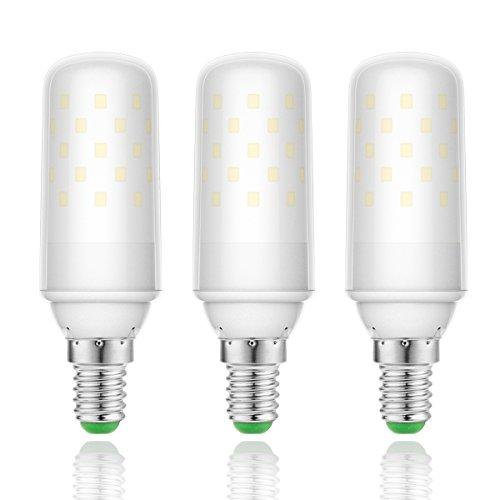 LOHAS 9Watt E14 LED Kerze Lampen, 1000lm, 80Watt Glühlampe äquivalent, Warmweiß 2700K, Nicht Dimmbar, Kleine Edison Schraube Kerze Glühbirnen, 220-240V AC, 3er Pack