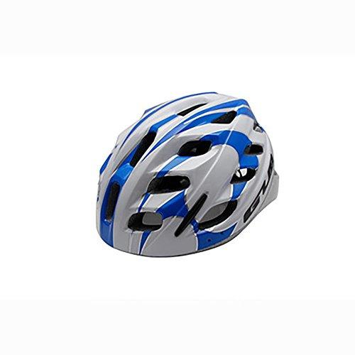 MIAO Casco della bicicletta - bambini esterni del casco del casco dei bambini del bambino Apprendono l'equipaggiamento della protezione di sicurezza della bici , blue