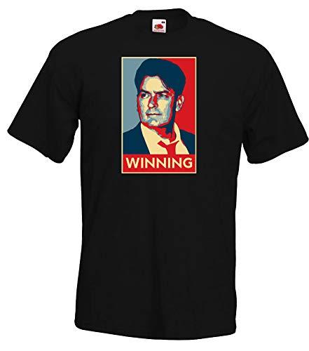 Youth Designz Herren T-Shirt Modell Sheen Charlie Winning, Schwarz, XL