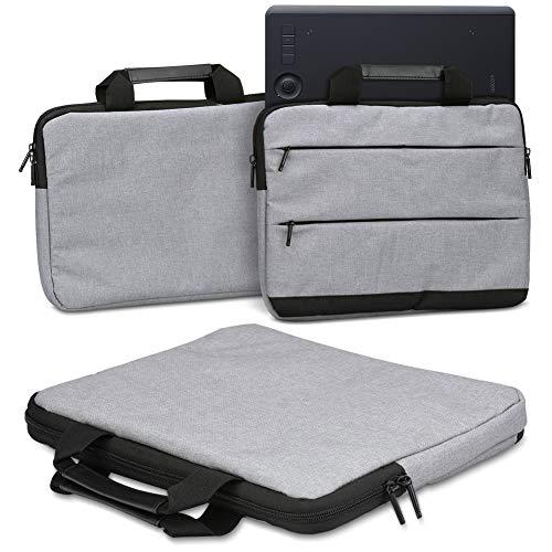Schutzhülle für Wacom Intuos Pro M PTH-660 PTH-650 Grafiktablett Tasche Sleeve Case Stifttablett Hülle in Grau oder Blau Tragetasche mit Griffen Universal Schutztasche, Farbe:Grau (Grey)